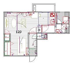 ナゴヤマンション今池[6A号室]の間取り