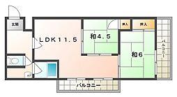 若草第1マンション[3階]の間取り