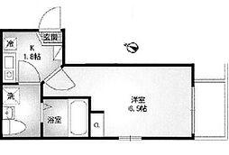 神奈川県横浜市南区南太田1の賃貸アパートの間取り