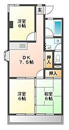 愛知県名古屋市名東区高針1丁目の賃貸マンションの間取り