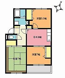 サンライズマンション[206号室]の間取り