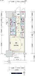 名古屋市営桜通線 中村区役所駅 徒歩4分の賃貸マンション 8階1Kの間取り