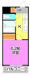ドミール上福岡[3階]の間取り
