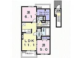 ルーチェB[2階]の間取り