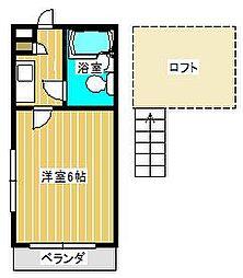 ジュネパレス新松戸第32[2階]の間取り