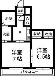 クレッセントハウス和合[303号室]の間取り