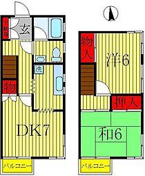 [テラスハウス] 千葉県柏市あけぼの4丁目 の賃貸【千葉県 / 柏市】の間取り