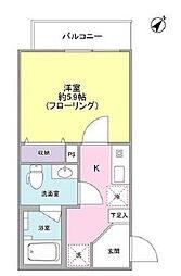 東京都新宿区市谷田町2丁目の賃貸アパートの間取り