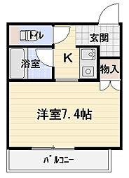 扇商事マンション[6階]の間取り