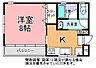 間取り,1K,面積28.08m2,賃料4.3万円,JR常磐線 水戸駅 4.4km,,茨城県水戸市袴塚3丁目11番地