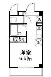 JR山陽本線 高島駅 徒歩2分の賃貸マンション 9階ワンルームの間取り