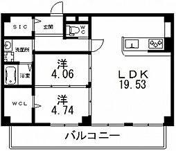 仮)寺田町1丁目新築マンション[401号室号室]の間取り