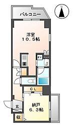 愛知県名古屋市東区筒井2丁目の賃貸マンションの間取り