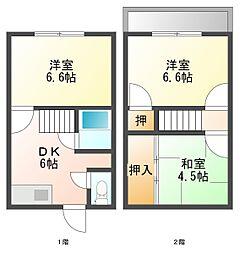 岑アパート[101号室]の外観