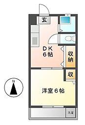 亀島マンション[2階]の間取り