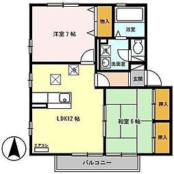 エトワールK I[2階]の間取り