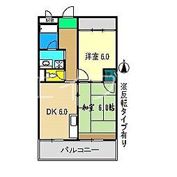 高須グランドハイツ[4階]の間取り