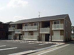 群馬県高崎市八千代町の賃貸アパートの外観