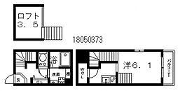 ハーモニーテラス平野[1階]の間取り