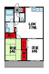エクセレンス和田[2階]の間取り