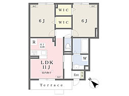 仮)本宿6丁目新築D-room 1階2LDKの間取り