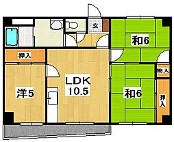 黒川第二マンション[503号室]の間取り