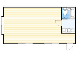 ユナイテッド青山ビル 3階ワンルームの間取り