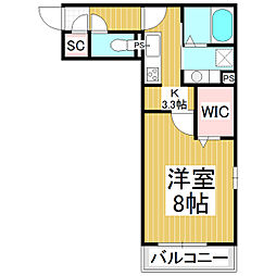 メゾン・ド・メイユール 1階1Kの間取り