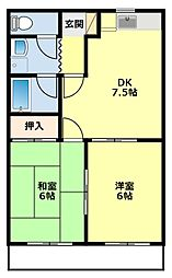 愛知県豊田市日之出町2丁目の賃貸マンションの間取り