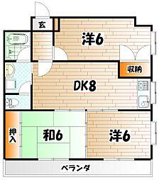 メゾン十字道[2階]の間取り