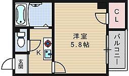 メゾンナカムラ[6階]の間取り