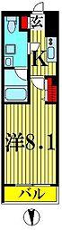 東武伊勢崎線 東向島駅 徒歩11分の賃貸マンション 1階1Kの間取り