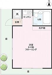 apartment A-RU[1階]の間取り