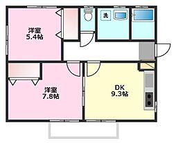 横沼貸室[2階]の間取り
