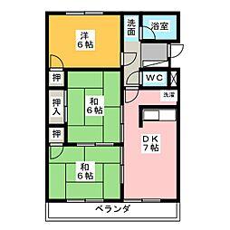 みゆきハイツ B棟[1階]の間取り