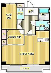 壱番館[4階]の間取り