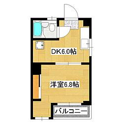 タカギグリーンコーポ2号館[1階]の間取り