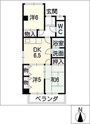 エクセルメゾン本山[4階]の間取り
