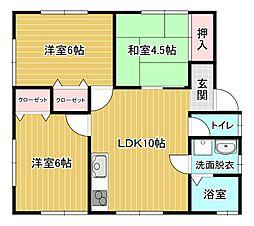 [一戸建] 福岡県大牟田市大字三池 の賃貸【/】の間取り