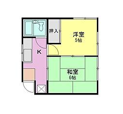 パールハイツ第2[1階]の間取り