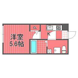 パークフラッツ横浜白楽[2階]の間取り