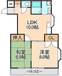 フィールズマンション1[305号室]の間取り