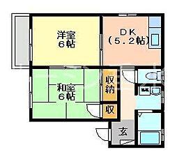 兵庫県加東市下滝野2丁目の賃貸アパートの間取り