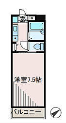 長田第一ビル 学生プラン[2階]の間取り