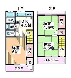 [テラスハウス] 東京都昭島市中神町 の賃貸【東京都 / 昭島市】の間取り
