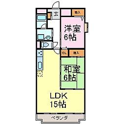 Limpia高峯[2階]の間取り