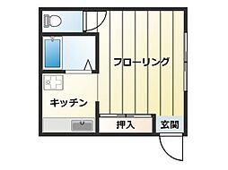 兵庫県神戸市灘区城内通2丁目の賃貸アパートの間取り