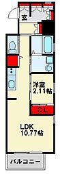 JR鹿児島本線 戸畑駅 徒歩4分の賃貸マンション 14階1LDKの間取り