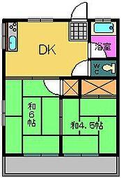 中山ハイツ[207号室]の間取り