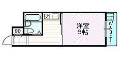 エンビラム野江都島[2階]の間取り